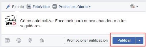 Automatizar Facebook - 1 boton publicar