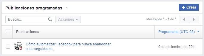 Automatizar Facebook - Ver publicacion programada