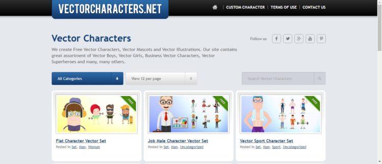 Personajes para diseño